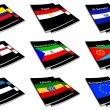 Stock Photo: World flag book collection 09