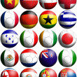 2010 world cup football flags — Foto Stock