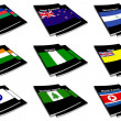 World flag book collection 20 — Stock Photo