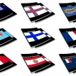 World flag book collection 10 - Stock Photo