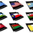 World flag book collection 30 — Stock Photo