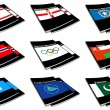 World flag book collection 21 — Stock Photo