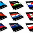 Stock Photo: World flag book collection 22