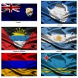 Fabric world flags collection 02 — Stock Photo