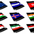 World flag book collection 13 — Stock Photo