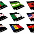 Stock Photo: World flag book collection 01