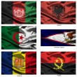 Fabric world flags collection 01 — Stock Photo #2252005