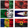 Fabric world flags collection 01 — Stock Photo