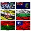 Fabric world flags collection 06 — Stock Photo