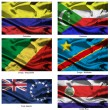 Fabric world flags collection 09 — Foto Stock