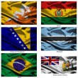 Fabric world flags collection 05 — Stock Photo