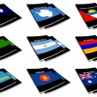 World flag book collection 02 — Stock Photo