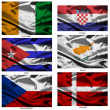 Fabric world flags collection 10 — Stock Photo