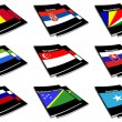 Stock Photo: World flag book collection 25