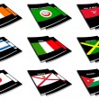 World flag book collection 14 — Stock Photo