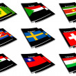 Stock Photo: World flag book collection 27