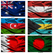 Fabric world flags collection 03 — Stock Photo #2252043