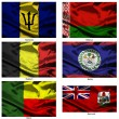 Fabric world flags collection 04 — Stock Photo #2252049