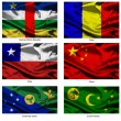 Fabric world flags collection 08 — Stock Photo