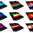 Stock Photo: World flag book collection 15