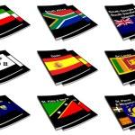 Dünya bayrak kitap koleksiyonu 26 — Stok fotoğraf