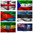 Fabric world flags collection 12 — Stock Photo