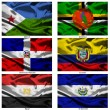 Fabric world flags collection 11 — Stockfoto