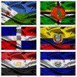 Fabric world flags collection 11 — Stock Photo