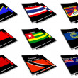 World flag book collection 28 — Stock Photo