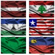 Fabric world flags collection 21 — Stockfoto