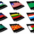 Stock Photo: World flag book collection 16