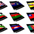 World flag book collection 05 — Stock Photo