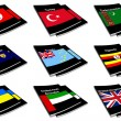 Stock Photo: World flag book collection 29