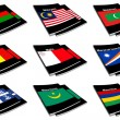 Stock Photo: World flag book collection 17