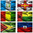 Fabric world flags collection 16 — Stockfoto