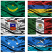 Fabric world flags collection 24 — Stock Photo