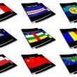 World flag book collection 06 — Stock Photo