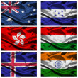 Fabric world flags collection 17 — Stock Photo