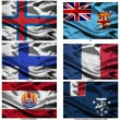 Fabric world flags collection 13 — ストック写真