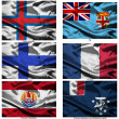Fabric world flags collection 13 — Stockfoto