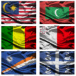Fabric world flags collection 23 — Stock Photo