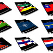 Stock Photo: World flag book collection 19