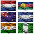Fabric world flags collection 27 — Stok fotoğraf
