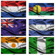 Fabric world flags collection 27 — Stock Photo