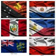 Fabric world flags collection 30 — Stock Photo
