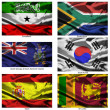 Fabric world flags collection 35 — Stock Photo