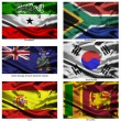 Fabric world flags collection 35 — Stockfoto