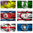 Stock Photo: Fabric world flags collection 28