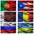 Fabric world flags collection 31 — Foto de Stock