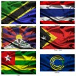 Fabric world flags collection 38 — Stok fotoğraf